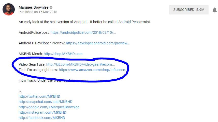 MKBHD YouTube Video Description